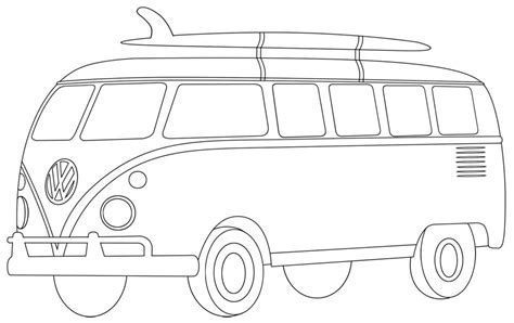 vw van colouring page bullet journals calligraphy
