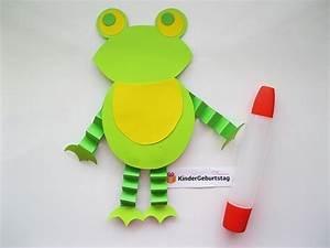 Geldfrosch Basteln Anleitung : frosch basteln mit kindern vorlage und anleitung ~ Lizthompson.info Haus und Dekorationen