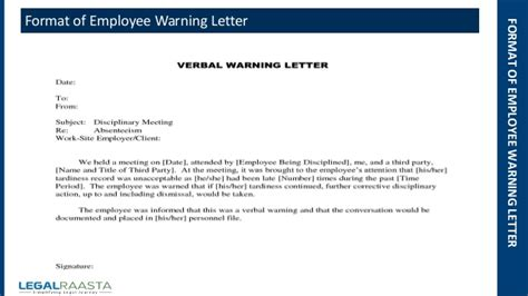 warning letter  employee driverlayer search engine