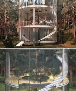 Glass House 2 : a tree grows inside this modern cylindrical glass house urbanist ~ Orissabook.com Haus und Dekorationen
