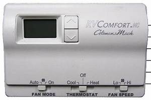 Coleman Mach 8330-3362 Digital Heat  Cool Rv Thermostat
