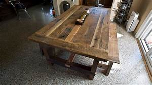 solid oak reclaimed barn wood dining room table With dining room tables made from reclaimed wood