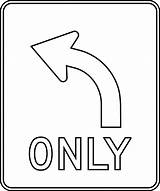 Coloring Signs Traffic Sign Pages Left Turn Outline Clipart Safety Road Etc Construction Symbols Printable Usf Edu Stop Yield Right sketch template