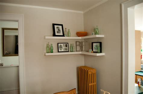 floating corner shelf create a decorative room using floating shelves