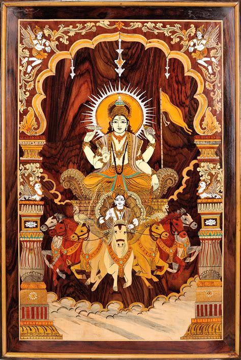 bhagawan surya    horse chariot framed