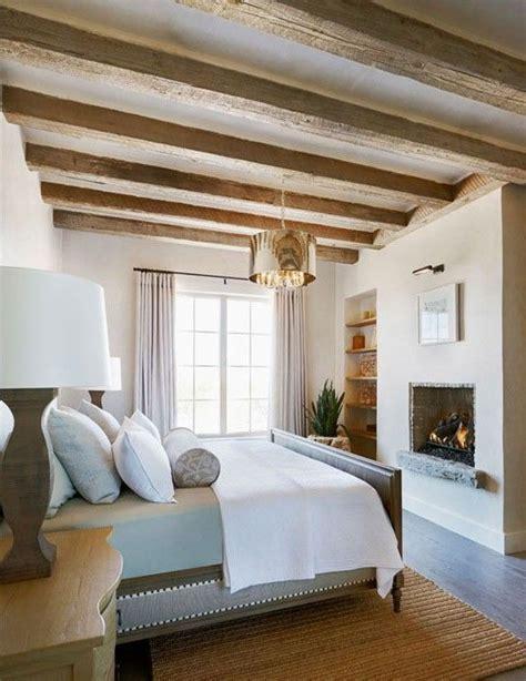 deco chambre shabby travi in legno in da letto ecco 20 esempi