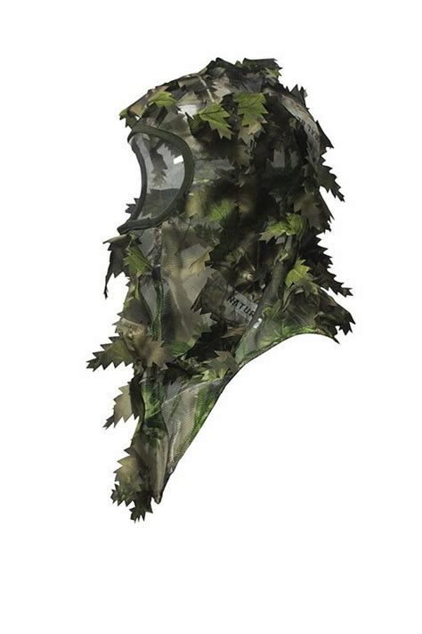 full cover ambush hd camouflage leafy face mask green