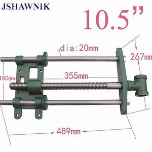 10 5 U0026quot Jaw Wide Hand Screw Clip Guide Bar Woodworking Clamp