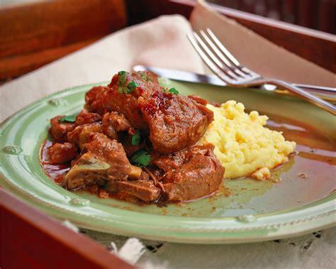 cuisine polenta comfort food veal stew with polenta recipe food republic