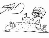 Sand Castle Coloring Bucket Creative Template Colornimbus Sheets Flag sketch template