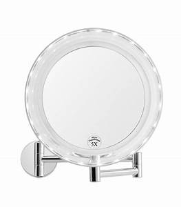 miroir grossissant salle de bain mural veglixcom les With carrelage adhesif salle de bain avec mini tube led