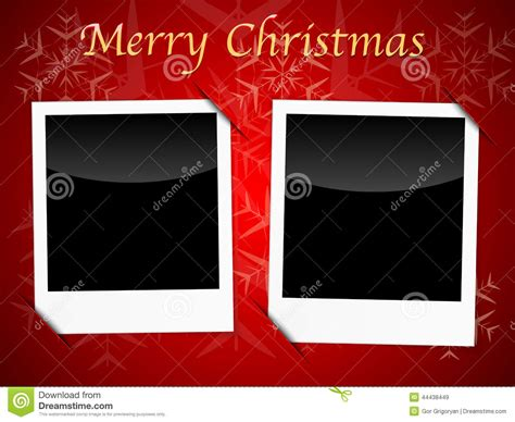 christmas card templates  red snowflake background stock