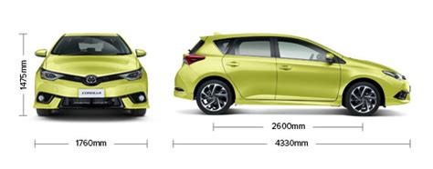 Toyota Corolla Dimensions by Corolla Hatch Levin Zr Specifications Toyota Nz
