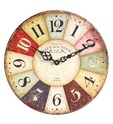 buy multicolour wood       wall clock art