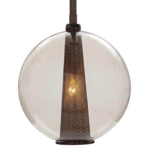 round glass pendant light cavlar brown nickel round smoke glass pendant light