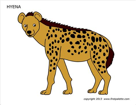 hyena  printable templates coloring pages