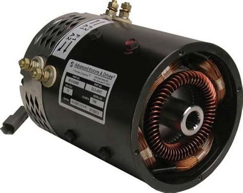 Advanced Electric Motors by Gem Car 72 Volt Stock Replacement 5 Hp Electric Motor