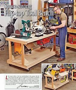 #1037 Flip-Top Tool Bench Plans • WoodArchivist