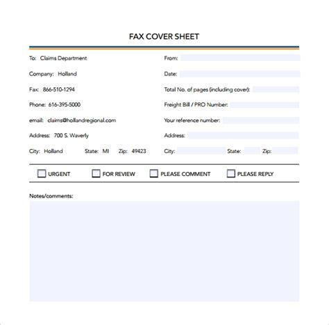 basic fax cover sheet samples sample templates