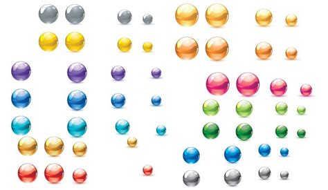 colored marbles colored marbles vector vectorish