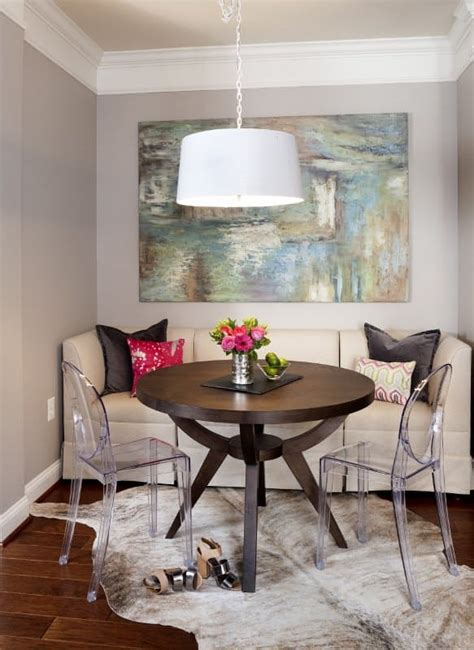 comfortable dining room ideas  tiny homes
