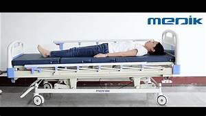 Manual Adjustable Hospital Bed Medical Hospit Bed 4 Crank