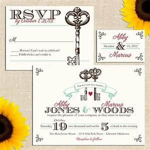 keys my last name means quotkeyquot vintage key wedding With wedding invitation wording last name