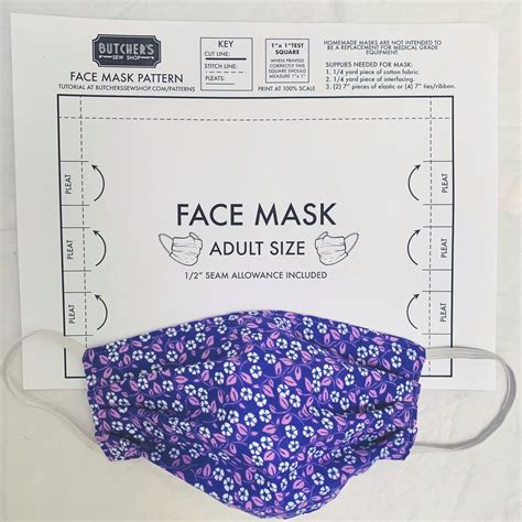 adult face mask sewing pattern butchers sew shop