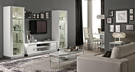 modern white gloss italian wall unit  lights portland