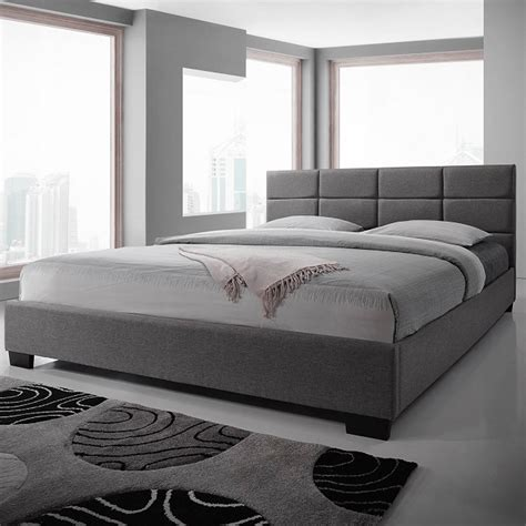Fabric King Bed Frame by New King Size Fabric Bed Frame Light Grey
