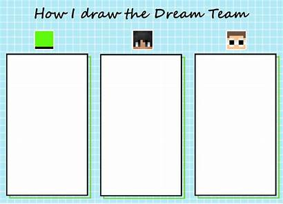 Dream Team Drawing Template Emotional Challenge Mcyt