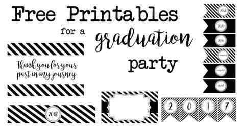 graduation party  printables paper trail design