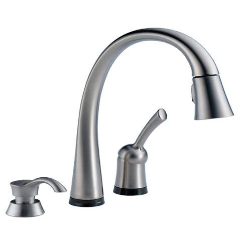 delta faucets for kitchen delta 980t arsd dst pilar arctic stainless steel one