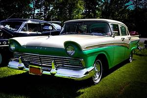 1957 Ford Fairlane 4 Door Photograph By David Patterson