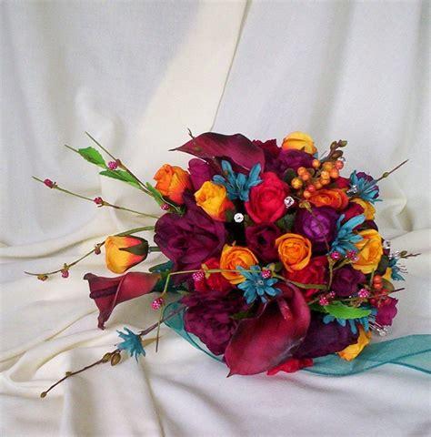 faux wedding flower package custom colors tangerine oasis
