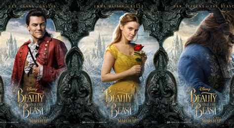 beauty   beast character posters offer