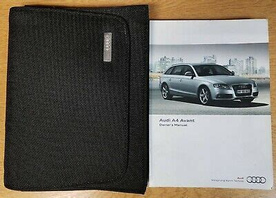 genuine audi  avant handbook owners manual wallet