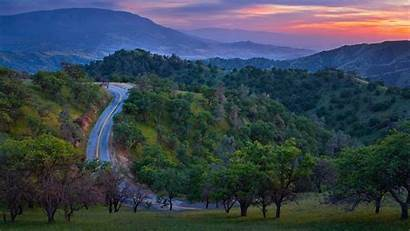 Mountain Road Background