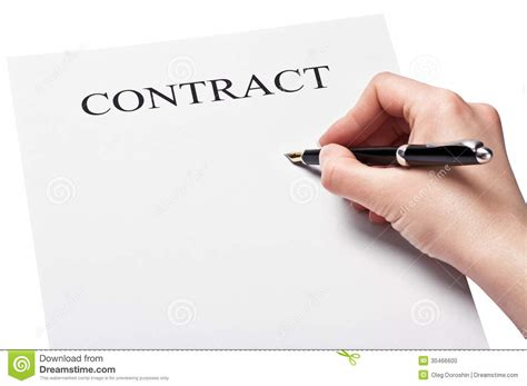 bail location bureau avec le stylo signant un contrat photo stock image