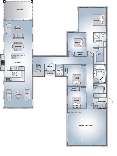 pavillion  style range floor plan design  shaped house plans house layouts