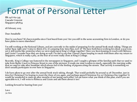 write  personal letter