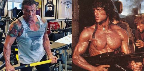 stallone sylvester rambo workout 72 jacked age physique he years cast last villain preps looking trains fitness movie