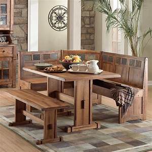 rustic small breakfast nook table set and chairs with With breakfast nook kitchen table sets