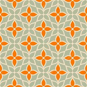 Vintage vector geometric background, floral modern ...