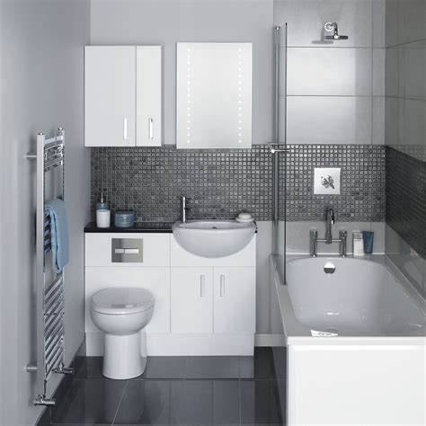 Small Dry Bathroom With Small Bathtub With Glass Divider