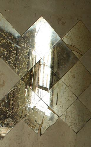 fractured window in the gold veined mirror tiles img 4326 flickr photo