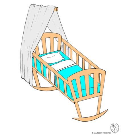 immagini di culle disegno di a colori per bambini