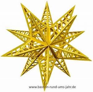 3d Stern Basteln 5 Zacken : 3d stern mit streifen so entsteht der stern aus den ~ Lizthompson.info Haus und Dekorationen