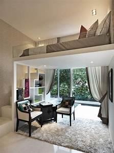 Ideen Für Kleine Schlafzimmer : die kleine wohnung einrichten mit hochhbett kleine ~ Lizthompson.info Haus und Dekorationen