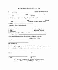 9 resignation letter samples sample templates With voluntary termination letter template